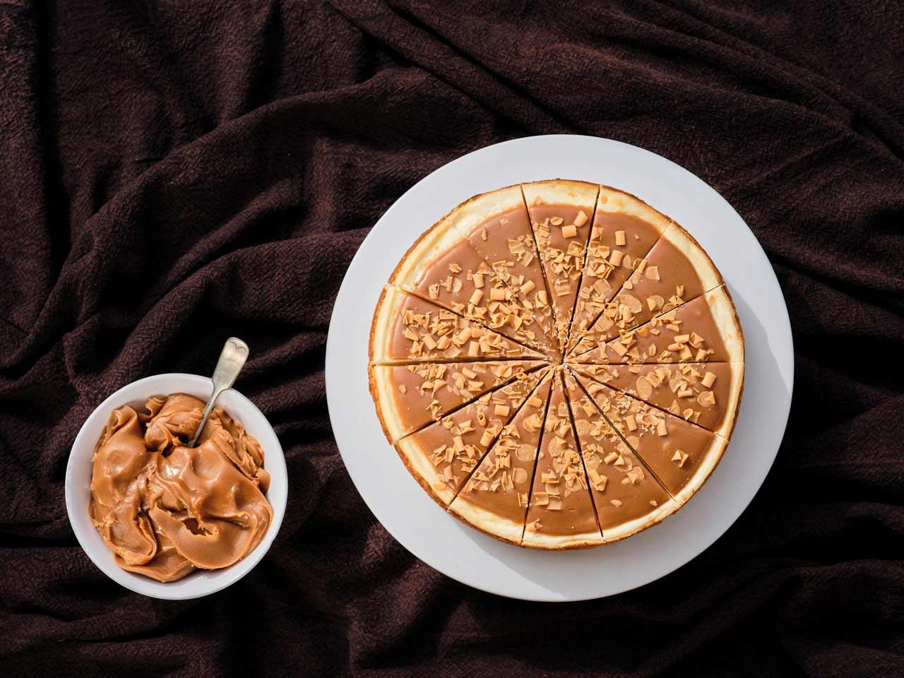 Gluten free salted caramel vbaked cheesecake